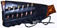 Патронташ кожаный на приклад 7,62х54 6патр. Медан 2004