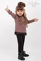 Стильный вязанный джемпер на девочку
