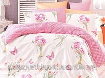 Постельное белье natalia розовый ранфорс полуторный (160х220х1шт/ 160х240х1шт/ 50х70х1шт)