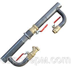 Байпас стальной для отопления длинный с краном 40