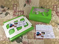 Коробка для 6-ти кексов / 250х170х90 мм / печать-Салат / окно-Бабочка, фото 1
