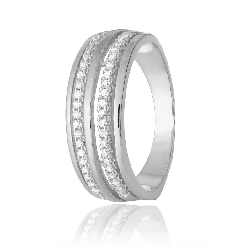 """Серебряное кольцо с камнями """"217"""""""