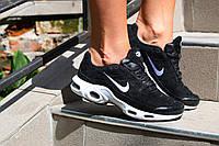 Женские Кроссовки Nike натуральная замша цвет черны