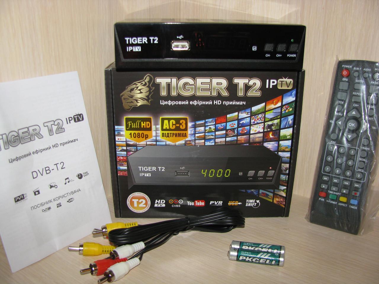 Tiger T2 IPTV тюнер Т2 + AC3 + IPTV