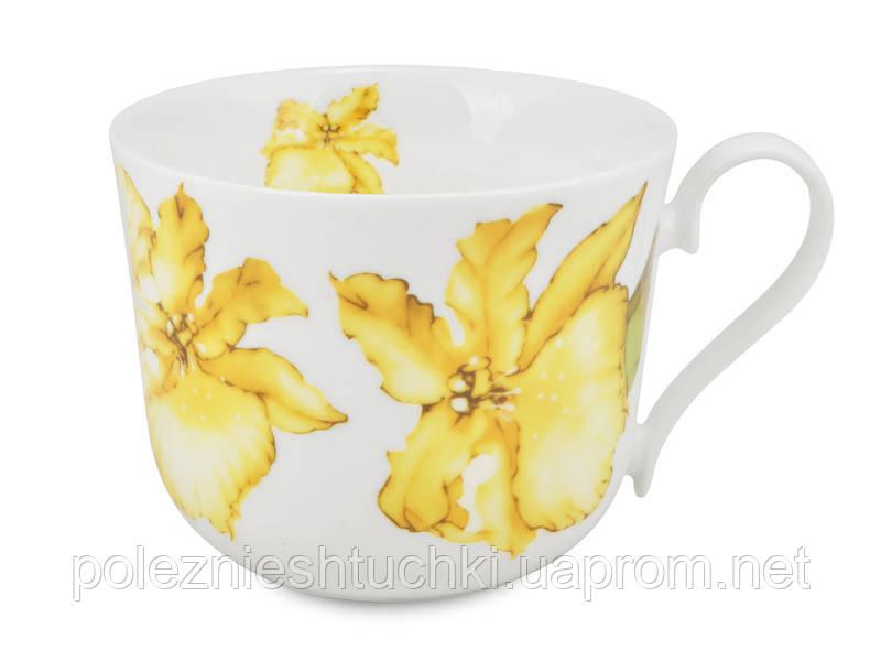 "Чашка ""орхидея желтая"" 480 мл"