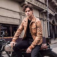 Мужская кожаная куртка.  Модель 6312