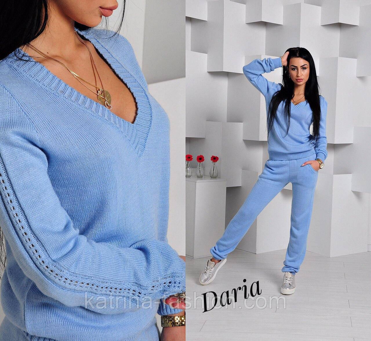 Женский вязаный костюм (в расцветках) голубой 56a971ebb11d9