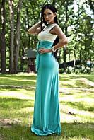 Платье микромасло двухцветное, фото 1
