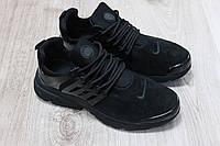 Кроссовки мужскиеNike цвет: черный материал: натуральная замша+силиконовые вставки