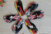 Вьетнамки для мальчика флаг Германии Франции Англии тм Super Gear р.38,39,40,41