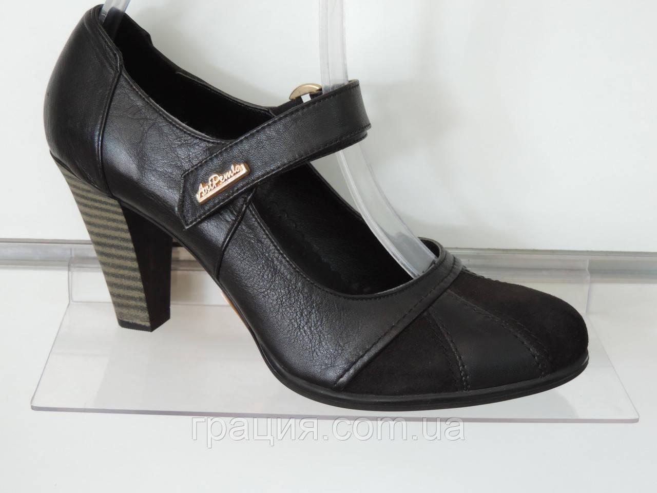 ee3ef34def8d Туфли женские кожаные натуральные на каблуке  продажа, цена в ...