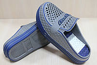 Двухцветные кроксы шлепки на мальчика, пляжная обувь тм Super Gear р.32
