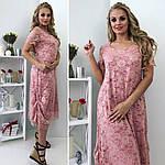 """Женское платье батал """"С красочным цветным принтом"""", фото 2"""