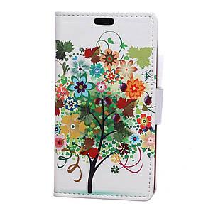Чехол книжка для Huawei Honor 8 Pro / Honor V9 боковой с отсеком для визиток, Фруктовое дерево