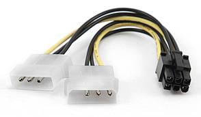 Перехідник 6 pin на 2x4 pin для живлення відеокарти PCI Express