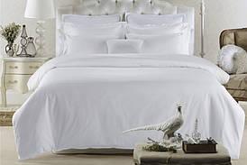 Постельное белье Lotus отельное - сатин классик белый полуторный (Турция)
