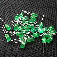 Светодиоды 5 мм зеленый