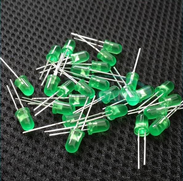 Светодиоды 8 мм зеленый