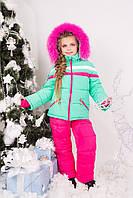 Зимний комбинезон для девочки KD-1, р-ры 92,98,104,110,116,122