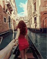 Рисование по цифрам Турбо Следуй за мной. Венеция худ. Мурад Османн (VP712) 40 х 50 см