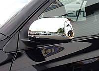 Хром накладки на зеркала Toyota Rav-4 2006-2009 (без отверстия под повороты)  хромированный пластик