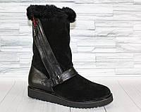 Угги с молнией по голени. Натуральный замш.Обувь от украинского производителя. 1248