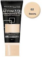 Тональная крем матирующий Maybelline Affinmat №02