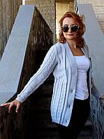 Вязаная женская кофта, серый
