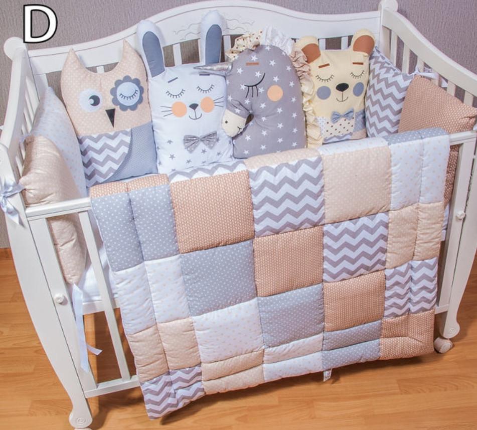 Комплект в кроватку ручная работа, одеяло,защита, постельное