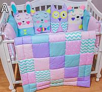 Комплект в кроватку ручная работа, одеяло,защита, постельное , фото 2