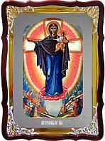 Икона Явление Пресвятой Богородицы на войне (серебро)