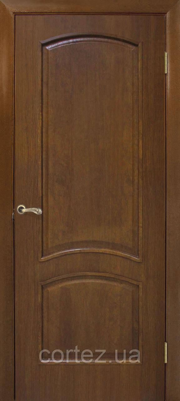 Межкомнатные двери пвх Капри ПГ орех