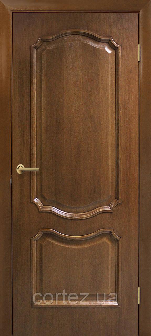 Межкомнатные двери пвх Кармен ПГ орех