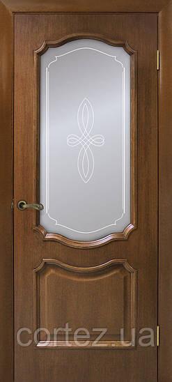 Межкомнатные двери пвх Кармен СС+КР орех