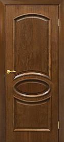 Міжкімнатні двері пвх Лаура ПГ горіх