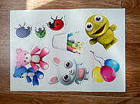 Интерьерная декоративная наклейка на стену в детскую комнату Микс 1