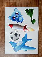 Интерьерная декоративная наклейка на стену в детскую комнату Микс 3