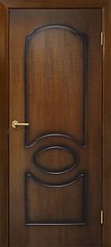 Межкомнатные двери пвх Виктория ПГ орех лесной