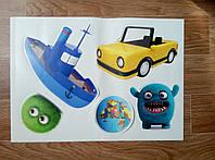 Интерьерная декоративная наклейка на стену в детскую комнату Микс 4
