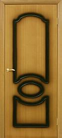 Межкомнатные двери пвх Виктория ПГ орех миланский
