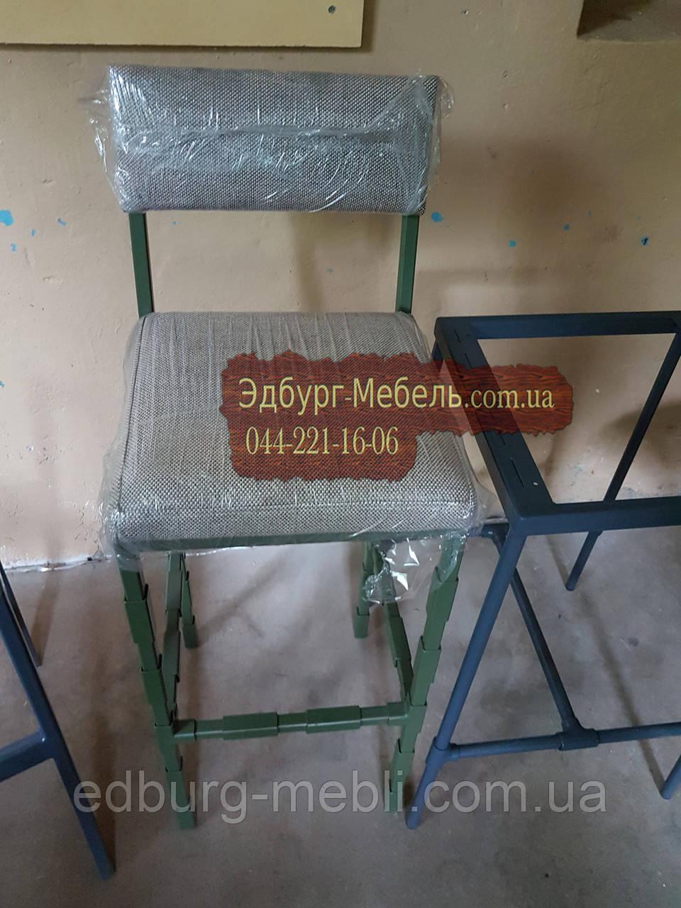 Барні стільці в стилі loft зі спинкою