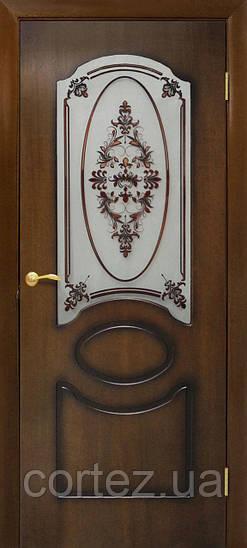 Межкомнатные двери пвх Виктория СС+ФП орех лесной