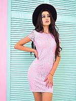 Нежное женское кружевное платье