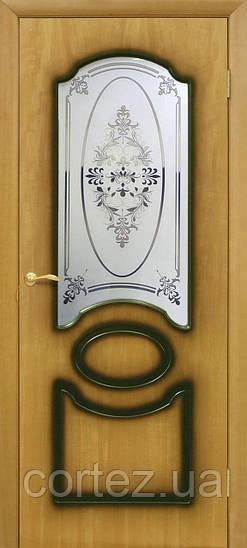 Межкомнатные двери пвх Виктория СС+ФП орех миланский