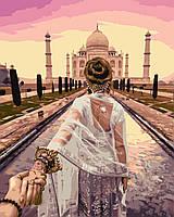 Холст по номерам Турбо Следуй за мной. Агра, Индия худ. Мурад Османн (VP716) 40 х 50 см