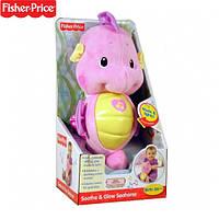 """Fisher Price Плюшевый музыкальный ночник """"Морской конек"""" розовый!, фото 1"""