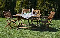 Деревянная мебель для сада, дачи, террасы. Комплект : стол и 4 кресла.