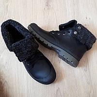 Утепленные ботинки с прорезиненным носком. Размер 36 (стелька 23.5 см)