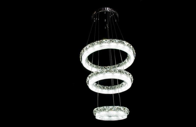 Светодиодная люстра тройные кольца 2245-400-3