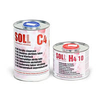 Лак акриловый SOLL MS 2:1 С4 с отвердителем H4 10 Fast